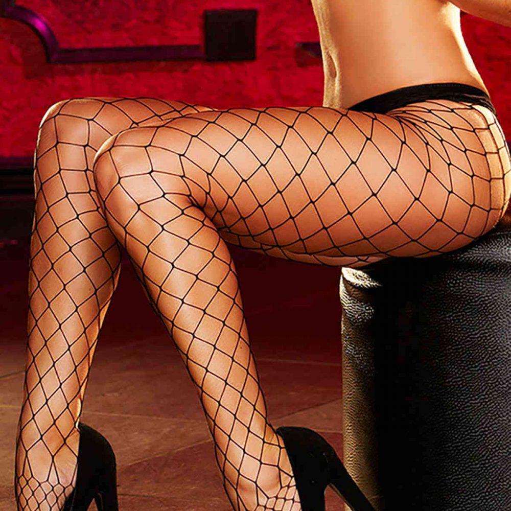 Merry See Fileli Çorap Siyah