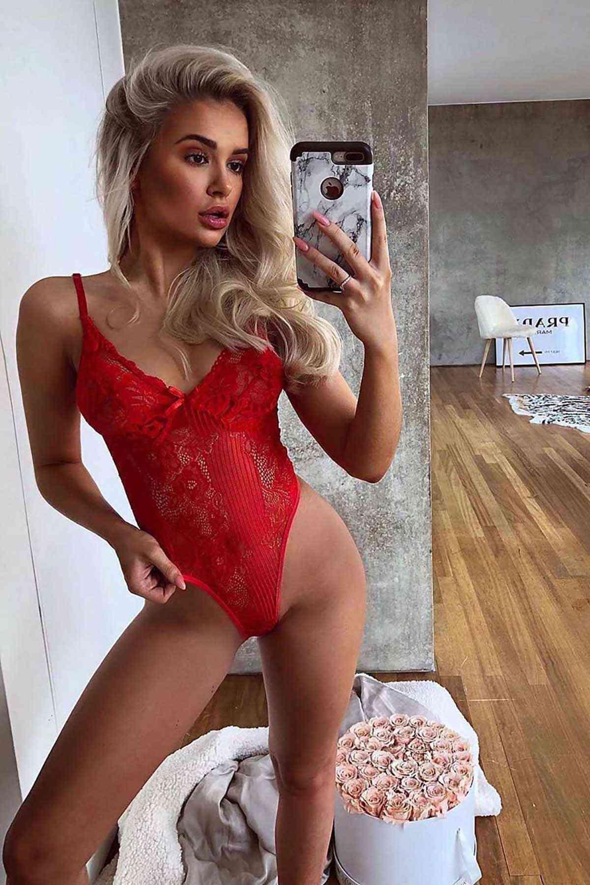Merry See Sexy Body Fantazi İç giyim Kırmızı